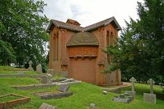 Compton Chapel, 1906; Surrey, London, England; Mrs. G. F. Watts Art Nouveau Architecture, Amazing Architecture, Kirchen, British Isles, Surrey, View Image, London England, Cemetery, Old Houses
