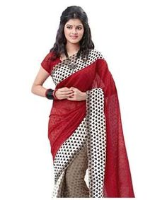 Cotton Silk Saree with Blouse | I found an amazing deal at fashionandyou.com and I bet you'll love it too. Check it out!