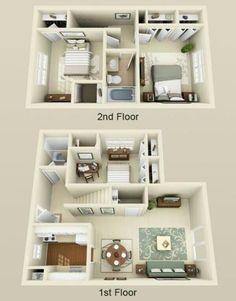 Sims 4 House Plans, House Layout Plans, Dream House Plans, Modern House Plans, Small House Plans, House Layouts, House Floor Plans, House Floor Design, Sims 4 House Design