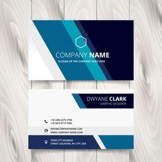 Cartão com listras em tons azuis Vetor grátis