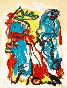 Karel Appel `UNTITLED` Canvas Art Print