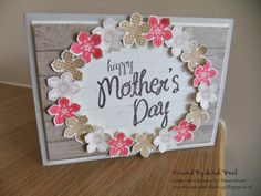 Created by Sarah Wood Stampin Up!  Hardwood, My Mother, Petit Petals  Paper, Stamps and Sticky Things: Mothers Day