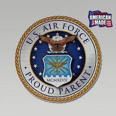 Air Force Proud Parents Decal  | ArmedForcesGear.com #madeintheusa #americanmade