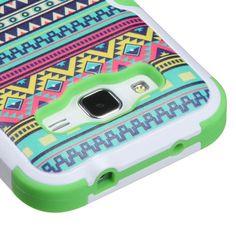 MYBAT TUFF M-Stand Galaxy Core Prime Case - Tribal Sun/Green