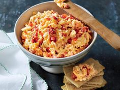 Make this Classic Pimiento Cheese ahead and serve as a sandwich or a dip.