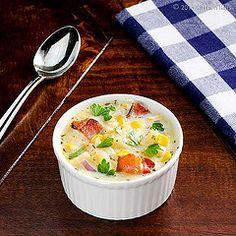 Winter Squash, Corn, and Bacon Chowder 1 by kitchenriffs, via Flickr