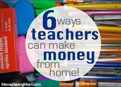 Because of my teaching background and experience, however, I have been able to find other ways to bring in some extra money for our family, even while staying home.