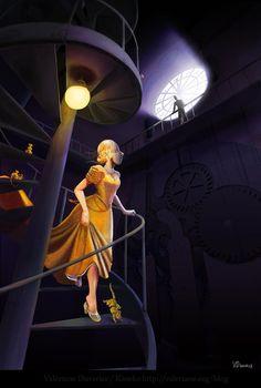 Cinderella STEAMPUNKED by kineko. #steampunk #victorian #Art #gosstudio .★ We recommend Gift Shop: http://www.zazzle.com/vintagestylestudio ★