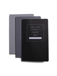 Grey Scale Notebooks found on Zady…
