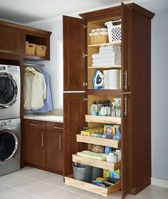 """Determine more relevant information on """"laundry room storage diy shelves"""". Check out our internet site. Laundry Room Cabinets, Laundry Room Organization, Laundry Room Design, Diy Cabinets, Basement Laundry, Laundry Storage, Laundry Rooms, Small Storage, Diy Storage"""