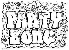 Graffiti Alfabet Kleurplaten.Hip Hop Graffiti Kleurplaat