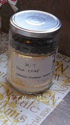 Cadeau Gourmand : Kit pour Cake orange chocolat et cannelle