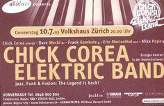 CHICK COREA ELECTRIC BAND - JAZZ, FUNK & FUSION - ZÜRICH - 2003 - ORIGINAL FLYER