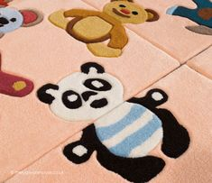 Main Colors, Colours, Pink Rugs, Childrens Rugs, Nursery Room, Boy Or Girl, Bears, Puzzle, Texture