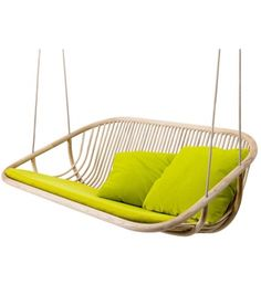 Swing 2 Seater Paola Lenti.  Could be fun hanging seat for the swingset in back garden.