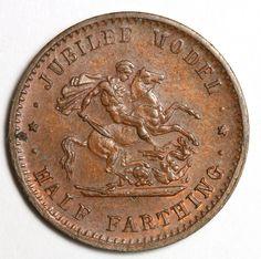 Jubilee Model Half Farthing 1887