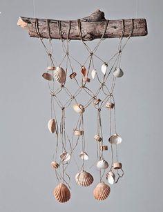 DIY Sea shell Wind Chime // Carillon macramé et coquillages   Plumetis Magazine