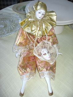 SOLD: Doll- harlequin by TheLivingRoominKenmore, via Flickr