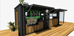 Pure Espresso Container Cafe, Garage Design, Coffee Shop, Espresso, Convenience Store, Beverages, Pure Products, House, Food
