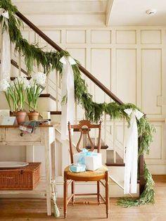 how to hang garland on your banister fresh green evergreen cypress pine garland home depot nursery fresh diy christmas holiday garland
