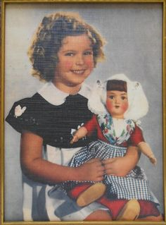 1935 Shirley Temple & Doll in color