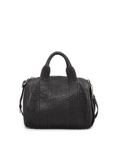 Rocco Stud-Bottom Satchel Bag, Rose Golden by Alexander Wang at Neiman Marcus.