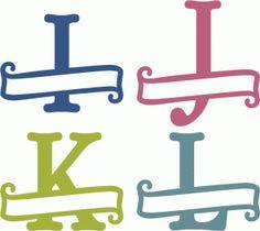 Silhouette Design Store - View Design simply elegant banner monograms i-l Vinyl Monogram, Monogram Fonts, Silhouette Cameo Projects, Silhouette Design, Silhouette Files, Fancy Fonts Alphabet, Silhouettes, Cricut Tutorials, Cricut Ideas