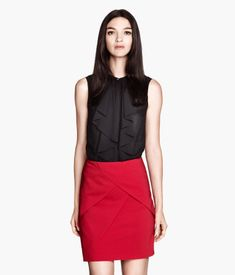 Product Detail | H&M US red skirt