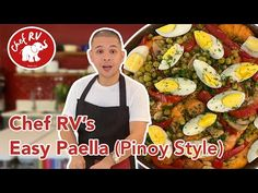 EASY PAELLA (Pinoy-style) - YouTube Filipino Paella Recipe, Filipino Recipes, Filipino Food, Chicken Cordon Bleu, Pinoy Food, Rice Dishes, Rv, Cooking Recipes, Stuffed Peppers