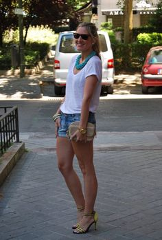 Something About Summer  , blanco accesories in Jewelry, Uterqüe in Bags, Zara Trafaluc in Heels / Wedges