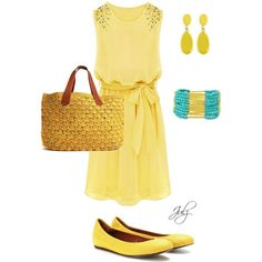 """Mellow Yellow"" by julz28520 on Polyvore"