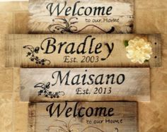 Reclaimed Wood Name Plates & Custom Signs