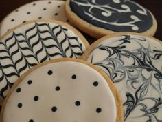 graphic cookies. so pretty!