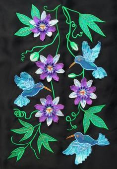 3d Passion Flowers & Hummingbirds ~ Divine Designs