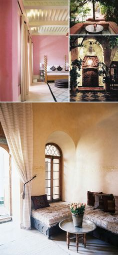 Riad El Fenn design ideas and photos to inspire your next home decor project or remodel. Check out Riad El Fenn photo galleries full of ideas for your home, apartment or office. Decor, Beautiful Interior Design, Fall Home Decor, Home, Home Deco, Living Room Photos, Moroccan Design, Interior Design, Corner Seating