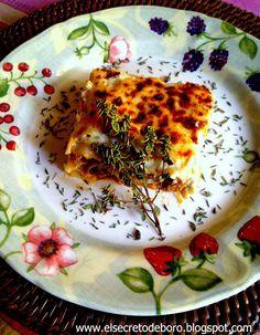 Lasagne with ragout of boro-nesa