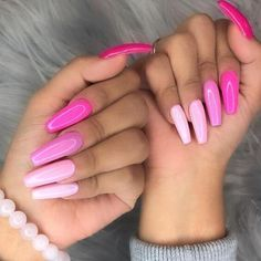 There are three kinds of fake nails which all come from the family of plastics. Acrylic nails are a liquid and powder mix. They are mixed in front of you and then they are brushed onto your nails and shaped. These nails are air dried. Light Pink Nail Designs, Light Pink Nails, Cool Nail Designs, Art Designs, Design Ideas, Nail Pink, Pink Ombre Nails, Pink Summer Nails, Cute Pink Nails