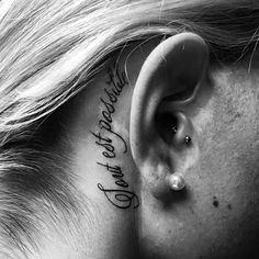 Behind ear tattoo #best tattoo