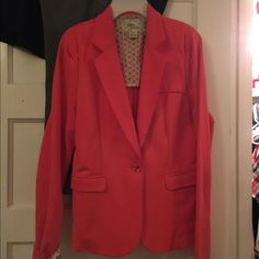 Coral Blazer Worn About Three Times