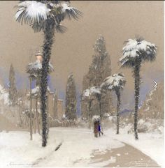 Denis Korobkov Toned Paper, Art Studies, Photo Wall, Pastel, Community, Snow, Drawings, Outdoor, Landscapes