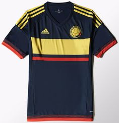 9c110cbb9 The new Adidas Colombia 2015 Home and Away Kits feature a unique kit  design. The Colombia 2015 Copa América Home Kit is bright yellow