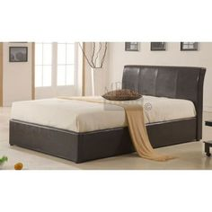 Texas Faux Leather Ottoman Bed |FREE DELIVERY Next Day - Select Day| up to 50% OFF RRP|