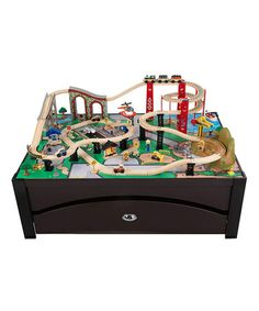 Take a look at this Espresso Metro Train & Table Set by KidKraft on #zulily today!