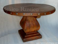 table mesquite with forged nails mexico rustico