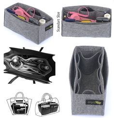 Felt Bag and Purse Organizer with fixed size in por OriginalClub
