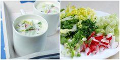 Chłodnik - jogurt, młoda sałata, rzodkiewki, ogórek, szczypior, koper, czosnek