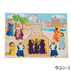 Shadrach, Meshach & Abednego Sticker Scenes are a fun way to teach kids about Jesus with this visual and interactive religious activity. Paper. Includes ...