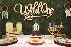 Wild One Themed Birthday Party featured on Pretty My Party