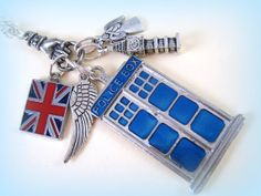 Dr. Who Charm Necklace Tardis Necklace by EyeFullProductions, $35.00