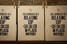 Relaxing Cup of #cafeconleche in Plaza Mayor #madrid2020 Edited by @BunkerType Letterpress